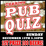 CHARITY PUB QUIZ – Sunday December 15th 3.30pm