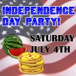 INDEPENDENCE DAY PARTY! – Saturday July 4th